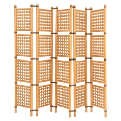 Midcentury 1940s Swedish Room Divider or Screen in Birch