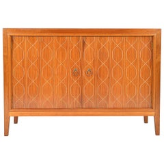 Midcentury 1950s English Gordon Russell Sideboard Double Helix Mahogany Birch