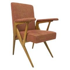 Midcentury 1950s Geometric Shaped Italian Armchair