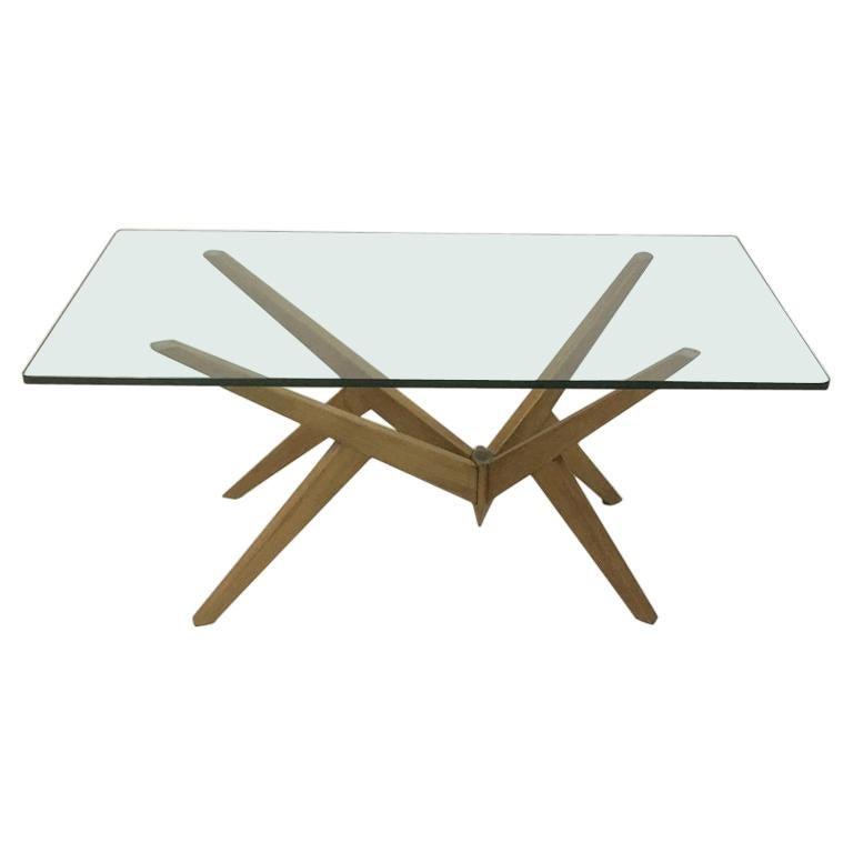 Midcentury 1950s Italian Angular Coffee Table