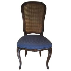 Midcentury 1950s Vintage Caned Back Chair