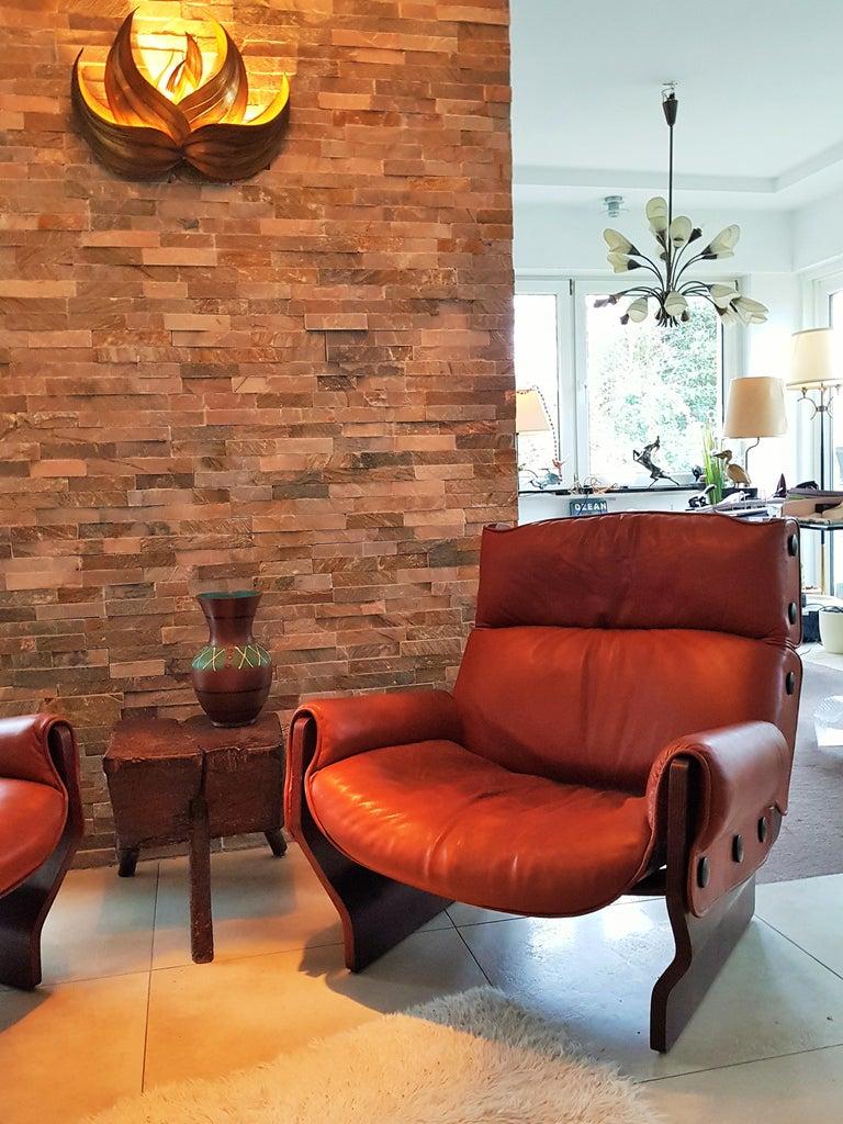 Mid-Century Modern Midcentury 1960s 'Canada' Chair Borsani for Tecno For Sale
