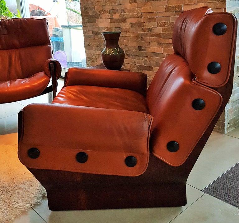 Veneer Midcentury 1960s 'Canada' Chair Borsani for Tecno For Sale