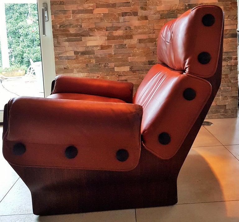 Mid-20th Century Midcentury 1960s 'Canada' Chair Borsani for Tecno For Sale