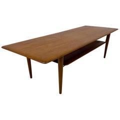 Midcentury 1960s Danish Teak Coffee Table by Peter Hvidt and Orla Molgaard