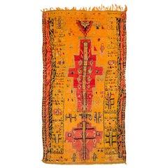 Midcentury 1960s Vintage Moroccan Rug