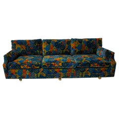 Midcentury 1970s Jack Lenor Larsen Velvet Sofa