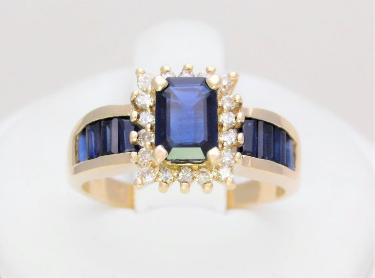 Mid Century 2.25ct Blue Sapphire and Diamond Cocktail Ring  Birthstone of September.  Sapphires deep blue and sparkling hue has long been loved and revered by ancient and modern cultures. It has come to be a loved gemstone that is second in