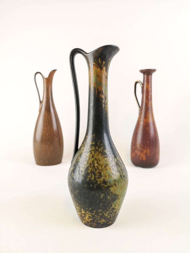 Three wonderful pieces made in Sweden during the 1950s at Rörstrand factory and designed by Gunnar Nylund.