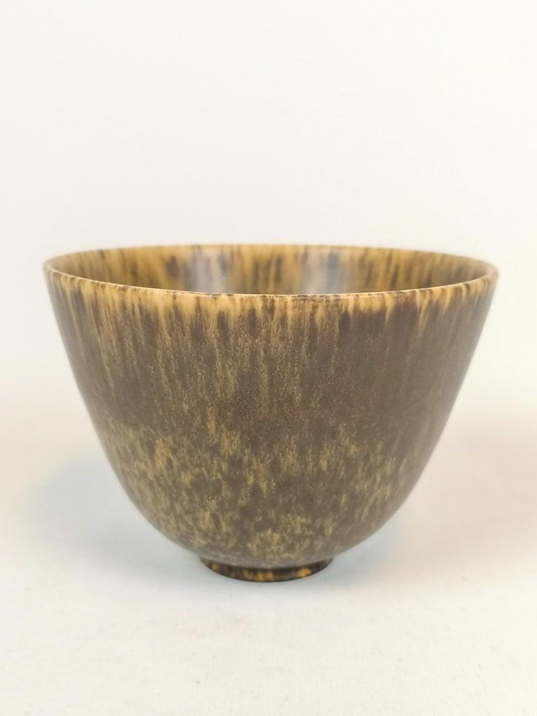 Midcentury 3 Ceramic Pieces Rörstrand Gunnar Nylund, Sweden In Good Condition For Sale In Langserud, SE