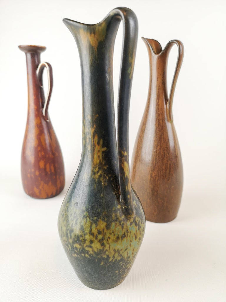 Mid-20th Century Midcentury 3 Ceramic Pieces Rörstrand Gunnar Nylund Sweden For Sale