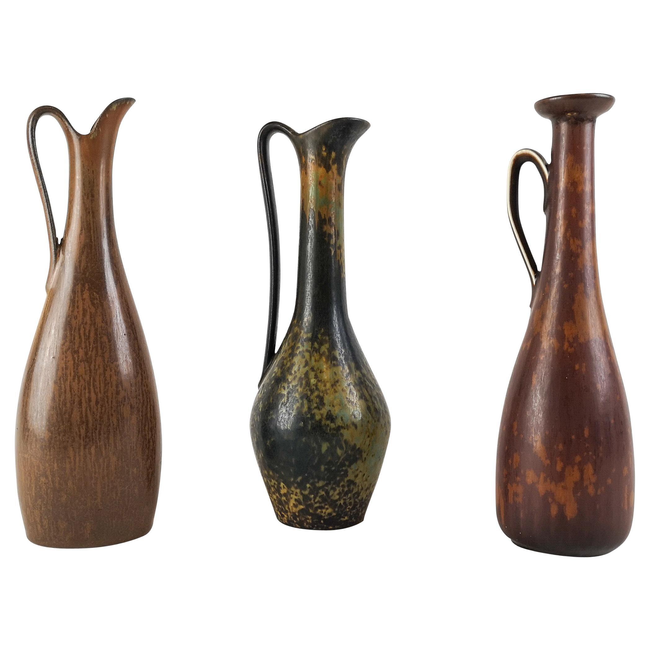 Midcentury 3 Ceramic Pieces Rörstrand Gunnar Nylund Sweden