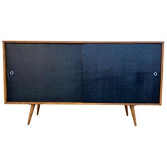 Midcentury 4-Drawer Maple Credenza by Paul McCobb Planner Group #1514 Black Door