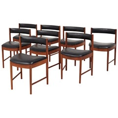 Midcentury 4103 Teak Dining Chairs by a. H. McIntosh, Set of 8