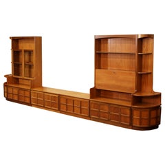 Midcentury 6-Piece Teak Wall Unit by Nathan Furniture