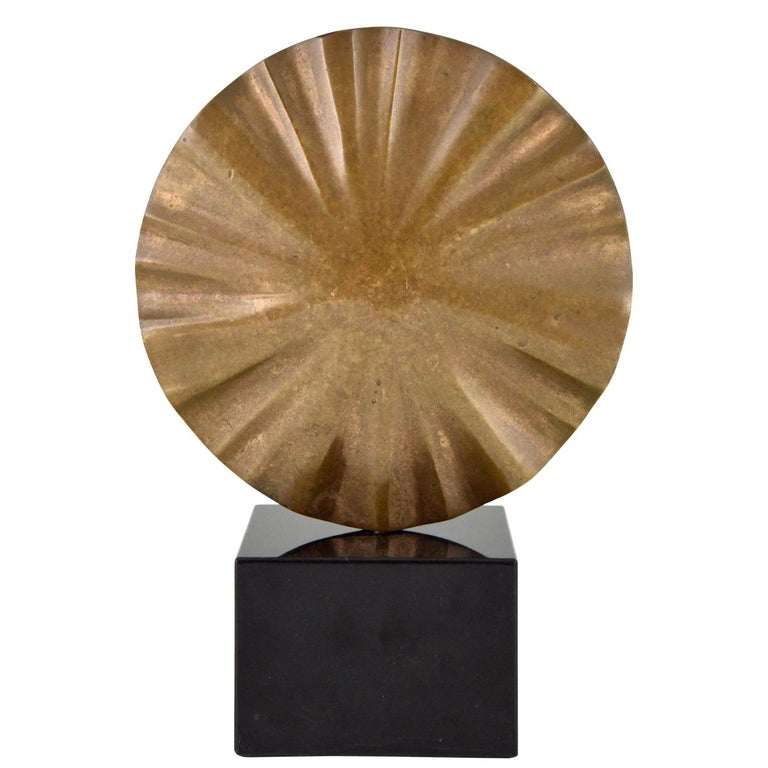 Midcentury Abstract Bronze Sculpture Claudio Capotondi  Italy  1979 For Sale