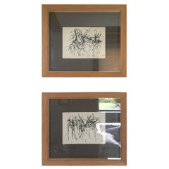 Midcentury Abstract French Watercolors