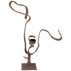 Midcentury Abstract Iron Sculpture found in France