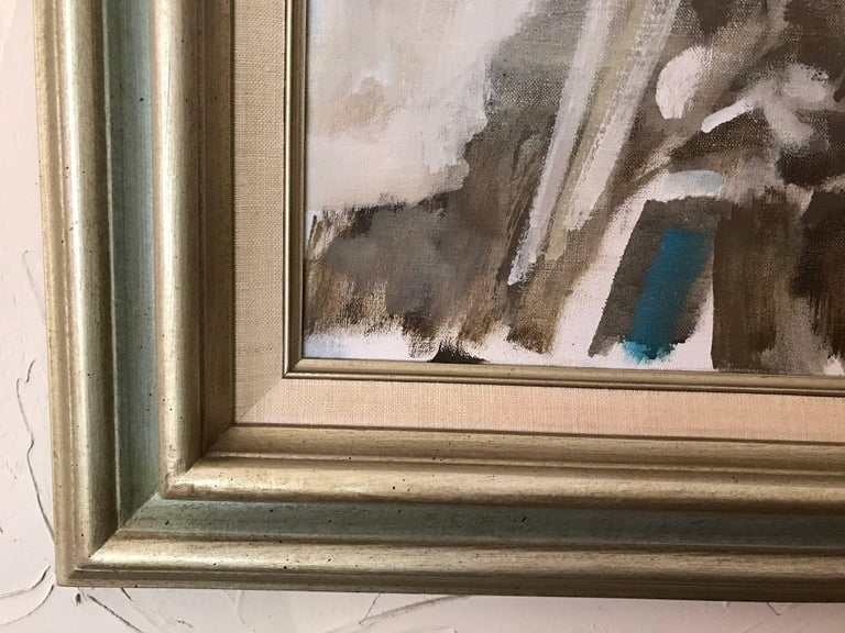 Midcentury Abstract Landscape Original Signed Oil Painting