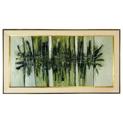 Midcentury Abstract Oil Painting by Elva Levy