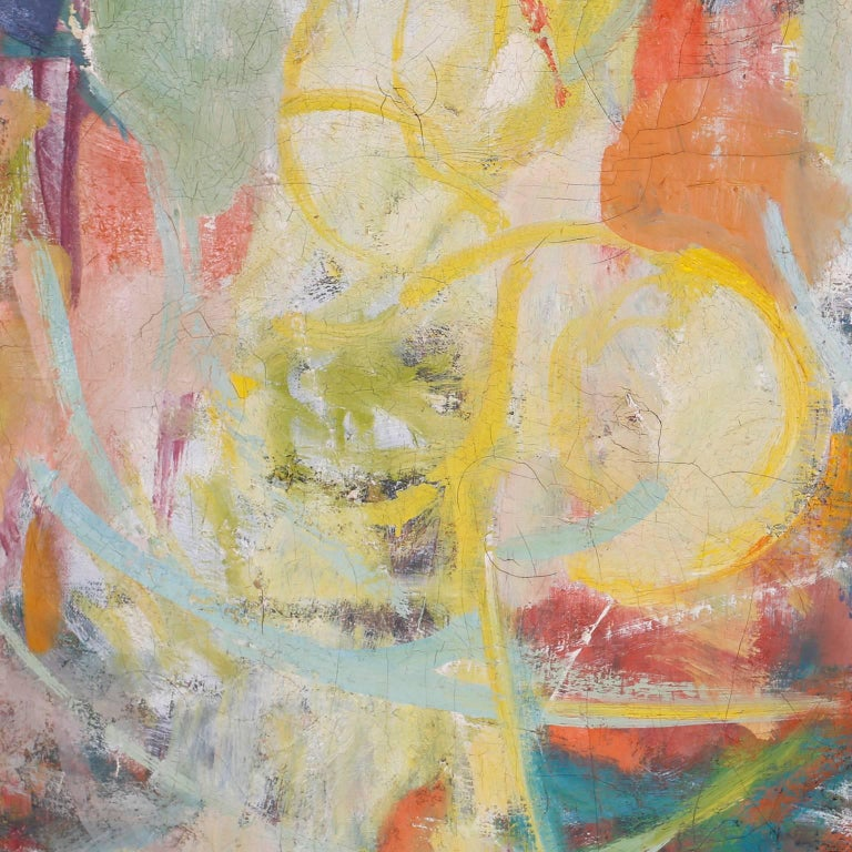 20th Century Midcentury Abstract Oil Painting on Canvas For Sale