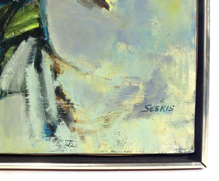 Mid-20th Century Midcentury Abstract Painting For Sale