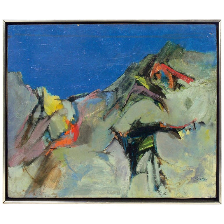 Midcentury Abstract Painting For Sale