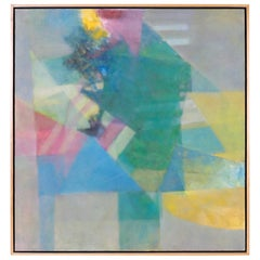 Midcentury Abstract Painting on Canvas