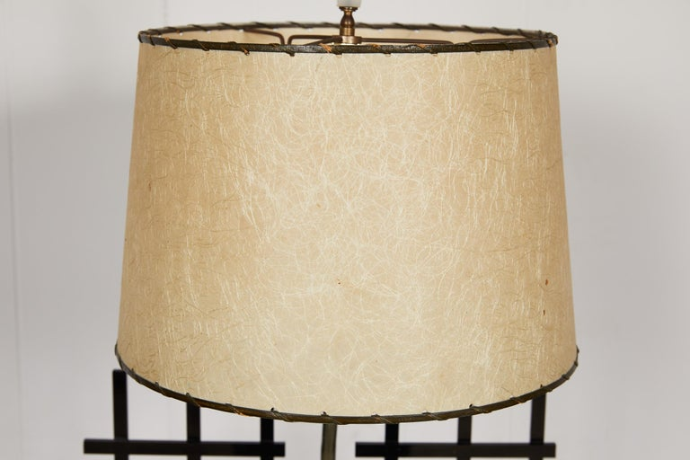 American Midcentury Acrylic and Brass Light by Moss Lamps For Sale