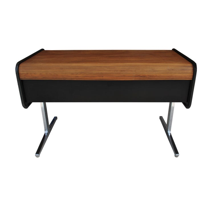 Mid-Century Modern Midcentury Action Office Roll Top Desk George Nelson for H Miller For Sale