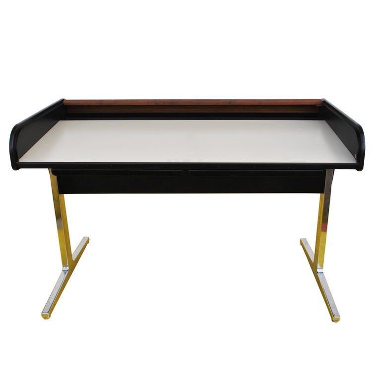 American Midcentury Action Office Roll Top Desk George Nelson for H Miller For Sale