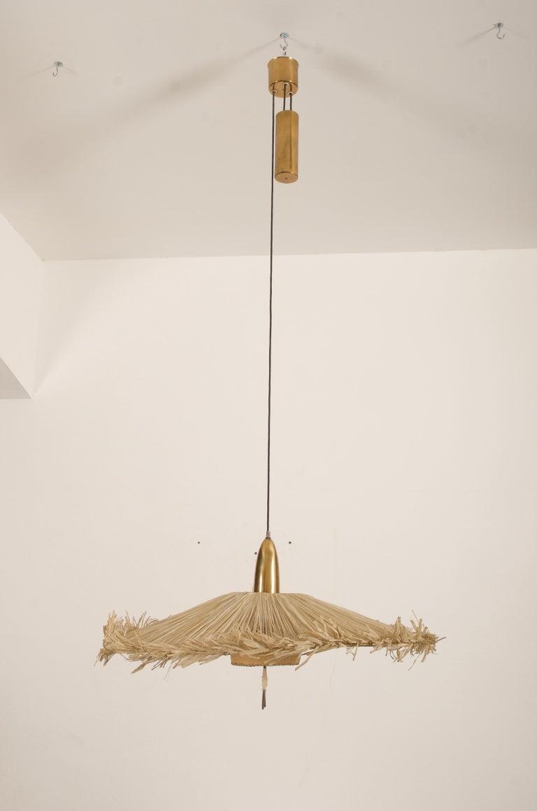 Mid-20th Century Midcentury Adjustable Pendant Attributed to J.T Kalmar For Sale