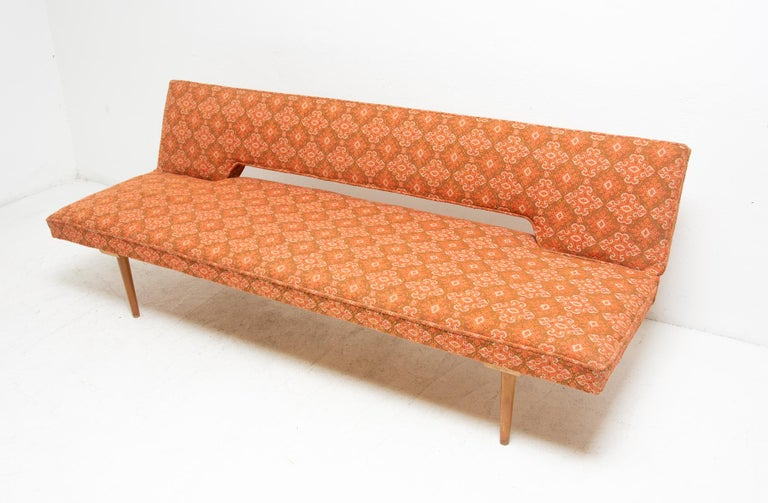 Mid-Century Modern Midcentury adjustable sofa-bench by Miroslav Navrátil, 1960s, Czechoslovakia