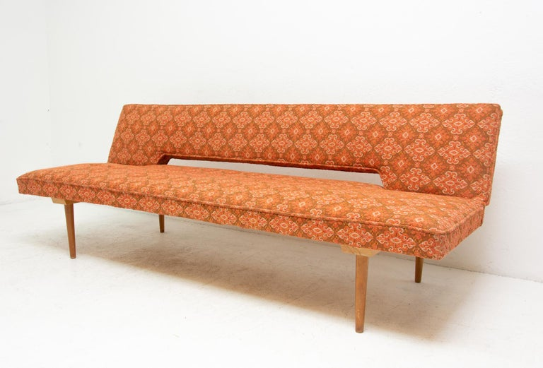 Mid-20th Century Midcentury adjustable sofa-bench by Miroslav Navrátil, 1960s, Czechoslovakia