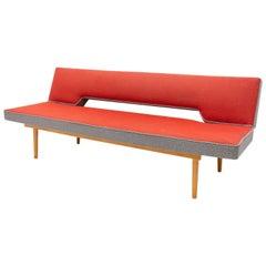 Midcentury Adjustable Sofa Bench by Miroslav Navrátil, 1960s, Czechoslovakia