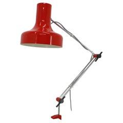 Midcentury Adjustable Table Lamp Designed by Josef Hurka for Napako, 1970s