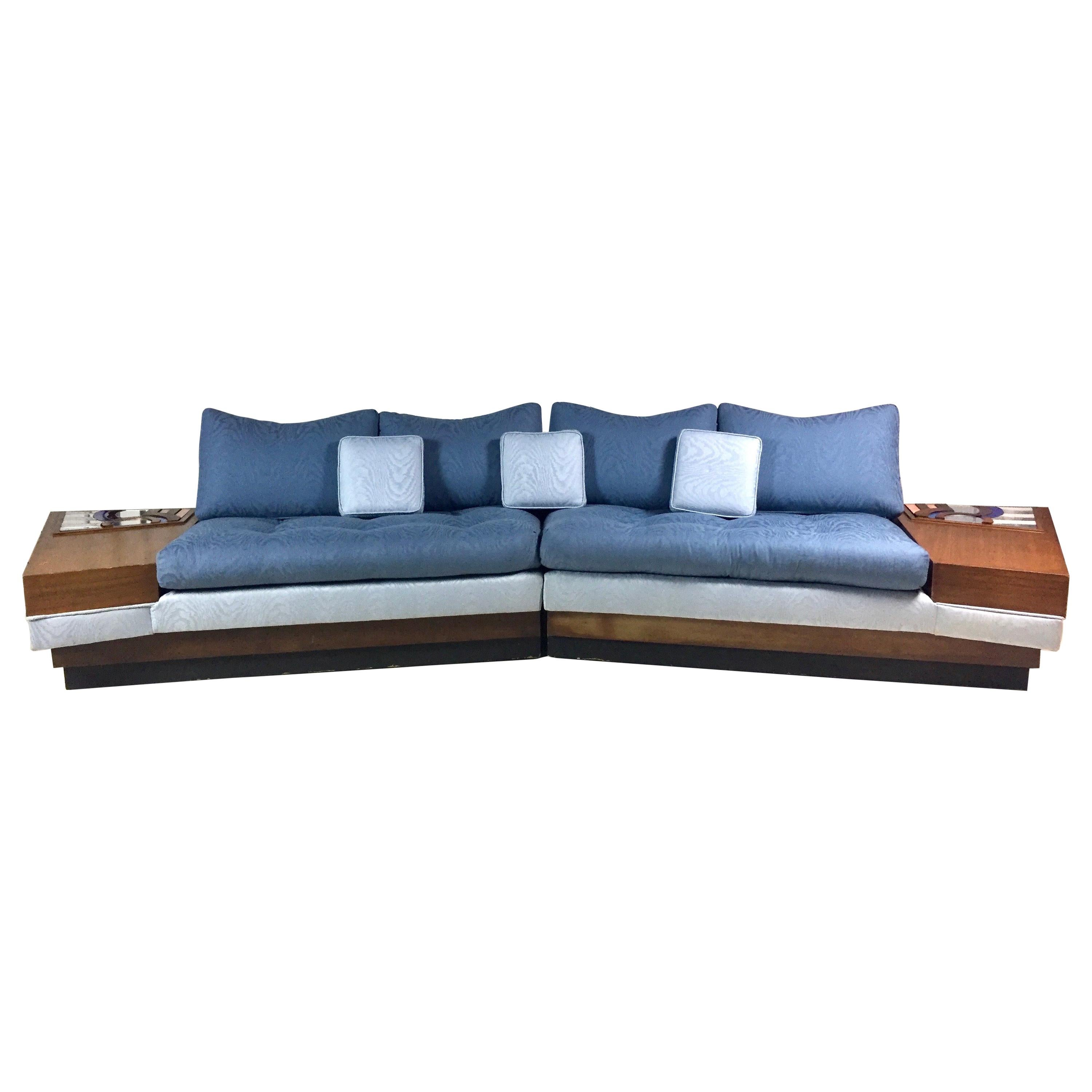 Surprising Midcentury Adrian Pearsall Craft Associates Sectional Sofa With Built In Tables Caraccident5 Cool Chair Designs And Ideas Caraccident5Info