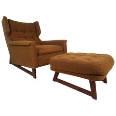 Midcentury Adrian Pearsall Style Lounge Chair and Ottoman by Weiland
