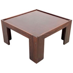 Midcentury Afra and Tobia Scarpa Wood Italian Squared Table for Cassina 1965