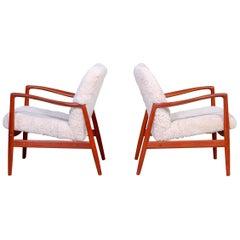 Midcentury Alf Svensson Easy Chairs for Bodafors, 1950s