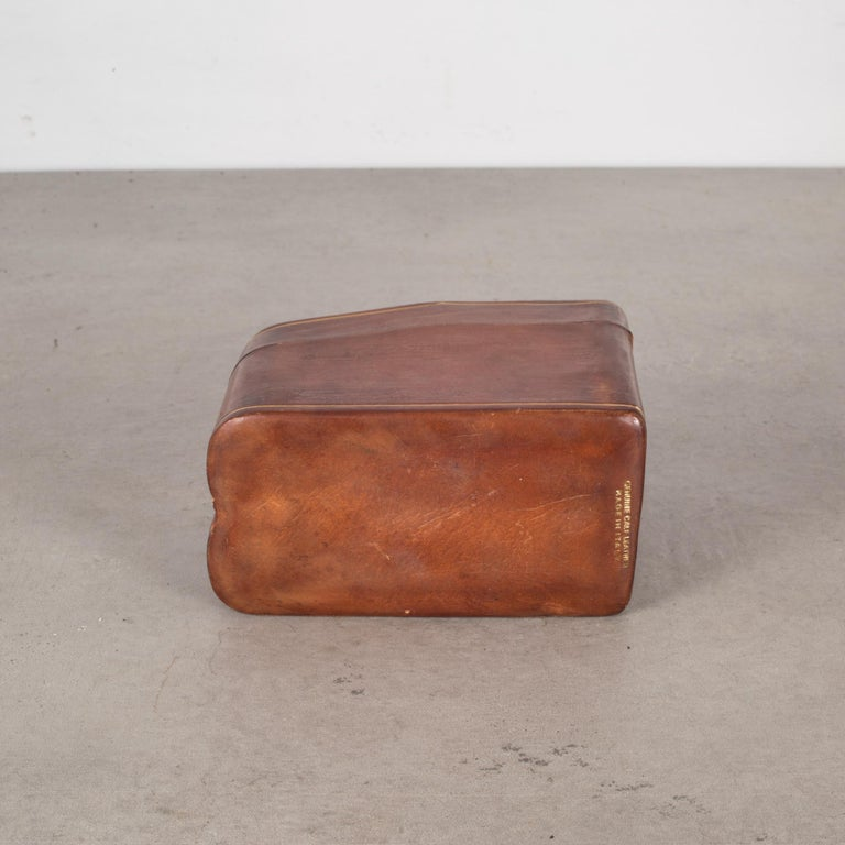 Midcentury All Leather Calfskin Playing Card Holder Made in Italy, circa 1960s 1