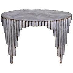 Midcentury All Steel Artist Signed Brutalist Dining Table