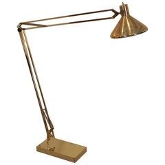 Midcentury Alsy Brass Floor Lamp