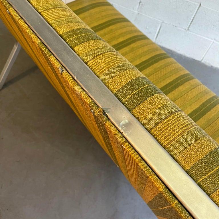 Midcentury Aluminum Frame Loveseat Sofa by GoodForm For Sale 2
