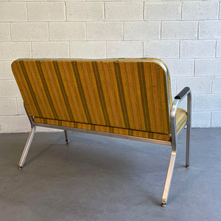 20th Century Midcentury Aluminum Frame Loveseat Sofa by GoodForm For Sale
