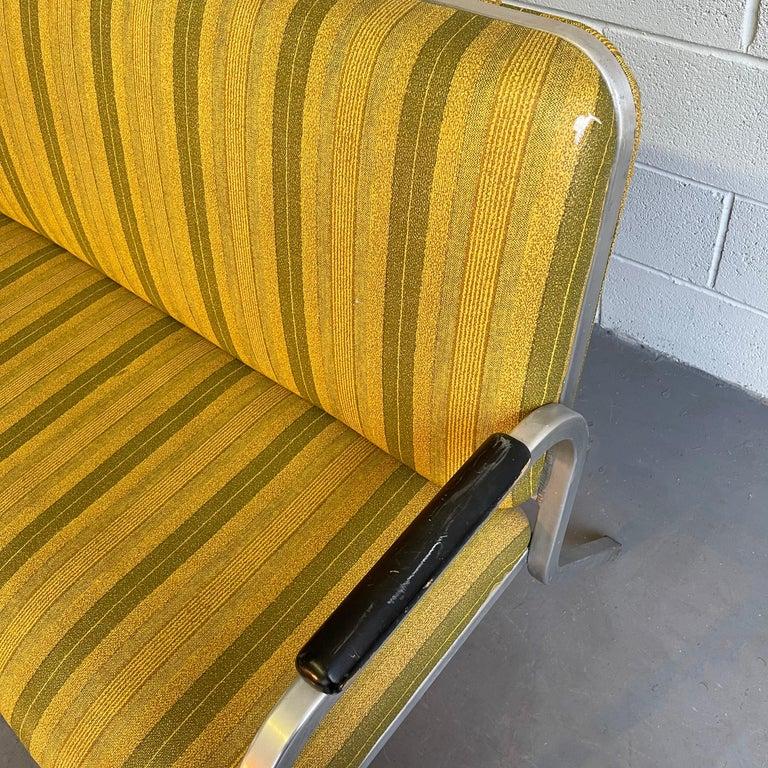 Midcentury Aluminum Frame Loveseat Sofa by GoodForm For Sale 1