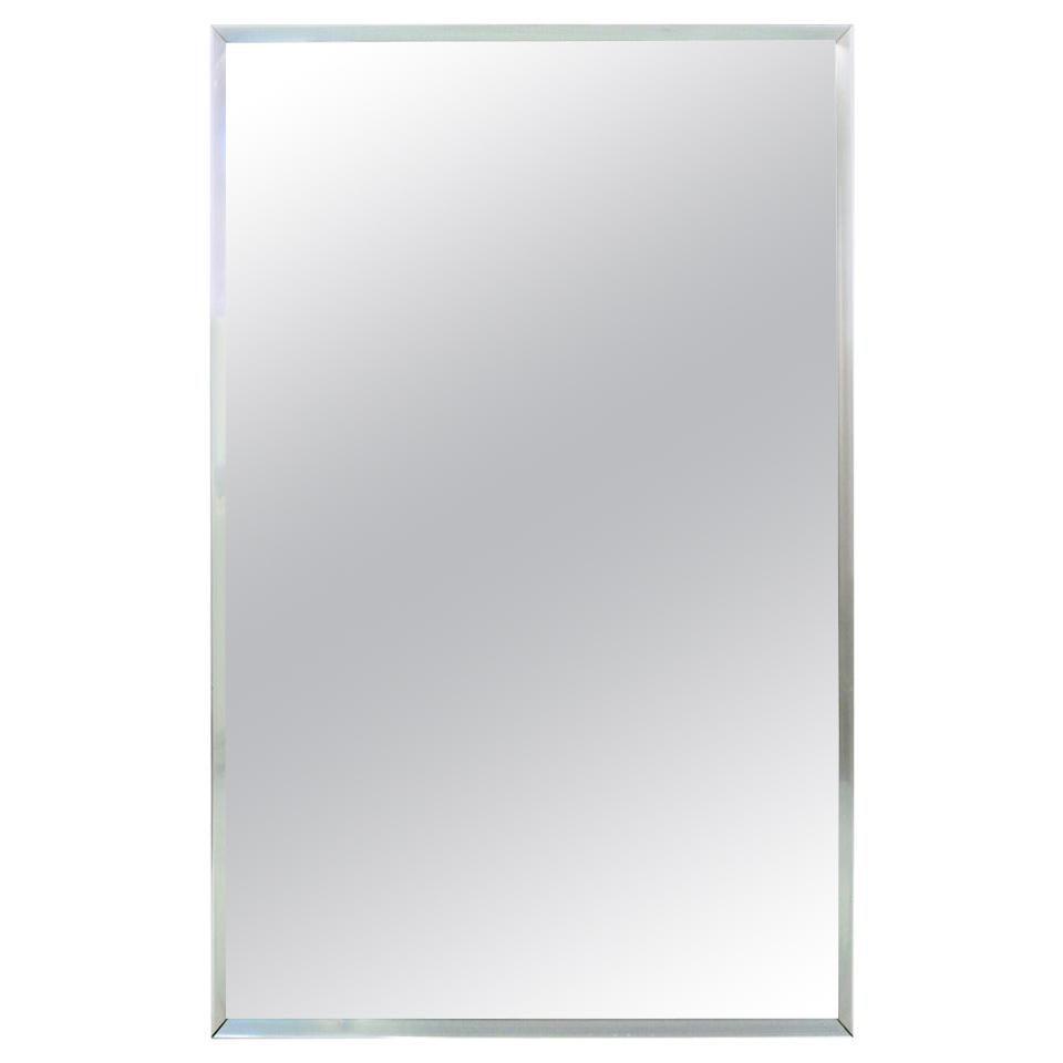 Midcentury Aluminum Frame Mirror