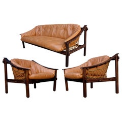 Midcentury Amazonas Armchairs and Sofa by Jean Gillon