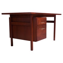 Midcentury American Modern Walnut Desk / Writing Table