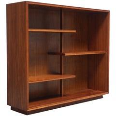 Midcentury American Modern Walnut Open Bookcase